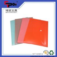 Quality Wholesale School Stationery Printing PP A4 Document Bag With Button File Folder for sale