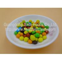 Quality Good Taste Crispy Chocolate Cacao Beans Yellow / Red / Blue Colour Jelly Candy for sale