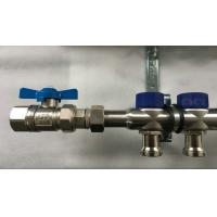 Quality Short Flowmeter S S 304 9 zones House Water Manifold for Floor Heating Systems for sale