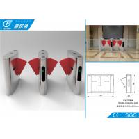Quality Security Access Control  Flap Gate Barrier Turnstile Fast Speed For Libratary Exit for sale