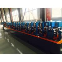Quality Galvanised Steel ERW Pipe Mill Line Blue Color Energy Saving 120m / Min Running Speed for sale