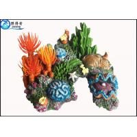 Quality Artificial Personalised Coral Fish Aquarium Ornaments Polyresin Handcraft Aquarium Accessories for sale