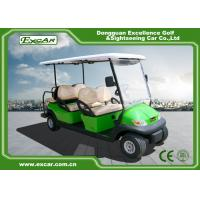 Light Green Golf Buggy With Seat 6 Endurance 70 - 100km 12:1 Axle