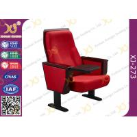 Quality Chinese Carst Iron Meeting Room Seating / Lecture Hall Chairs With Speaker for sale
