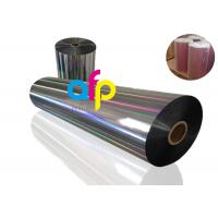 Buy 20 Mic PET Dry Holographic Film Roll , Clear Polyester Film With Rainbow Pattern at wholesale prices
