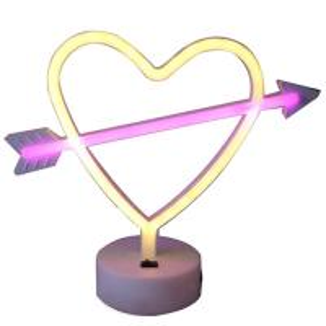 Quality Arrow heart led neon light wedding decoration for sale