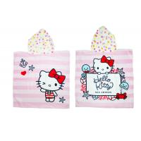 Quality Hello Kitty Hooded Pool Towels / Cotton Beach Towels Custom Design for sale
