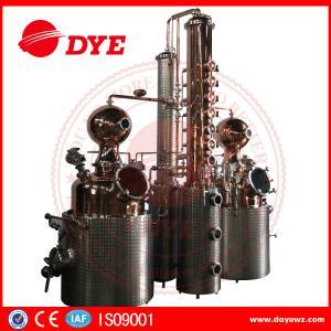 Quality 66 Gal Industrial Copper Distillery Equipment Vodka Copper Alcohol Distiller for sale