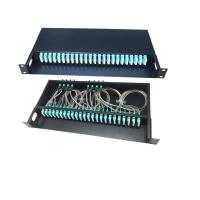 Buy cheap FTTH 12 / 48 / 96 Core Fiber Optic Cable Termination Patch Panel Compact from wholesalers