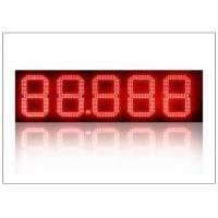 Quality Outdoor / Indoor 12 inch led lights for gas stations , led price signs energy saving for sale