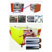 Quality Aluminium foil rewinder machine With automatic stop switch / 500mm width for sale