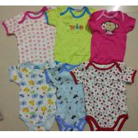 China on sale kids mixed stock assorted short sleeve baby boxer boy girl cotton summer onesie Singapore cheap rompers on sale