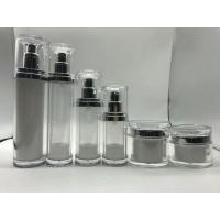 Quality empty  20ml 30ml 50ml 100ml plastic clear  cosmetic acrylic airless bottle for sale