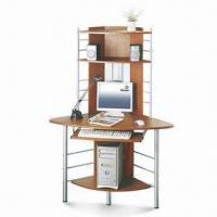 Quality Computer Desk with Speaker Shelf and Power Coating Steel Frame for sale