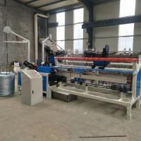 Quality 3m width PLC control double wire feeding full Automatic Chain Link Fence Machine for sale