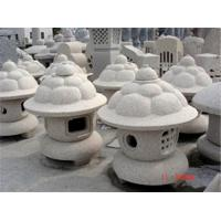 Quality Mushroom Shaped Pagoda Lantern, Light Grey Granite Sculpture for sale
