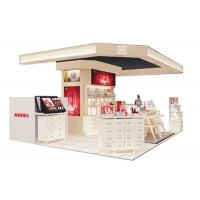 Buy Beautiful Modern Cosmetic Display Case / Makeup Display Shelves Cream Coating Color at wholesale prices