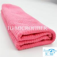 """Microfiber Cleaning Cloth Towel Weft Knitted Cloth For Kitchen Red Color 16"""" Washing Tools"""