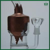 China Copper Plating Glass Water Bongs 9 Inches Universal With Cross - Crystal Recycler on sale
