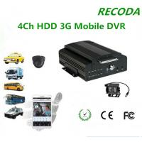 4Ch HDD 3G Mobile DVR For Truck Monitoring , Digital DVR Support Andriod / IOS