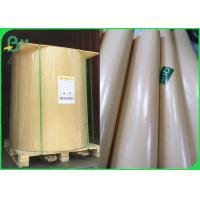 China Water Resistant 40gsm PE Coated Kraft Paper 90cm Roll In Brown & White on sale
