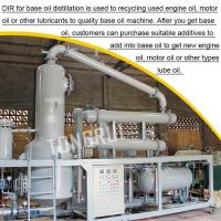 Buy Black Gasoline Engine Oil Extraction Distillation Machine Used Motor Oil at wholesale prices