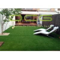 Quality PE Straight And Curly Yarn Realistic Artificial Grass For Garden Landscape Green Color for sale