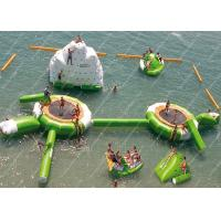 Quality Green 0.9mm PVC Inflatable Water Games / inflatable water trampoline for sale