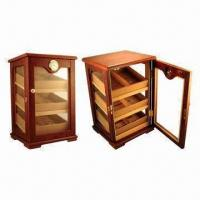 Quality High Gloss Finish Cigar Display Humidor, Lined with Spanish Cedar Humidifier and Hygrometer for sale