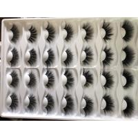 Buy cheap wholesale 100% handmade mink eyelashes private label 3d mink lashes 25mm-27mm from wholesalers