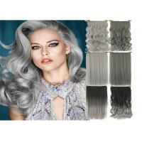 Quality High Light Synthetic Fibre Hair Extensions , Thick Ends Clip In Hair Extension Long Curly Weave for sale