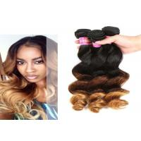 Quality 12'' - 30'' Body Wave Ombre Curly Hair Extensions , Ombre Micro Loop Hair Extensions for sale