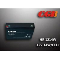 Quality HR1214W  12V 3AH Alarm System Batteries , AGM Valve Regulated Deep Cycle Rechargeable Battery for sale