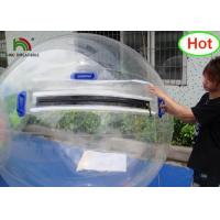 Quality 2m Dia PVC Inflatable Water Ball / Customized Japan Zipper Clear Water Walking Ball for sale