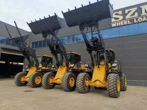 Quality 4 Wheel 2200rpm 5 Ton Wheel Loader With 3m3 Bucket SZM956L for sale