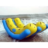 Quality Inflatable Water Park Game / Double Tubes Water Totter Toy for sale