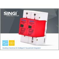 Quality Solar / DC lightning protection Surge Protector Device with 2 pole red frame for sale