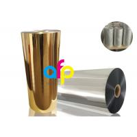 Buy Gold Metalized Plastic Film , Moisture Proof Opaque Metallized Polyester Film at wholesale prices