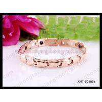 China Stainless steel and titanium jewelry, healthy magnetic bracelets on sale