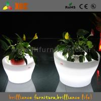 China Big Remote Control Battery LED Plant Pots 16 Colors Change For Party on sale