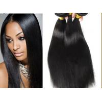 Quality Long Straight 1b# Peruvian Human Hair 12-28 Inch Hair Extensions for sale