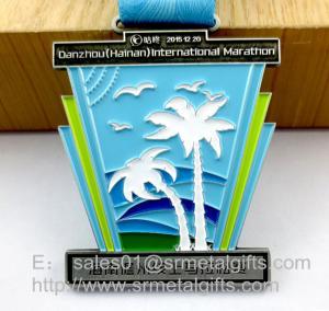 China Metal Challenge Awards Medal with ribbon, custom enamel color filled challenge medals on sale