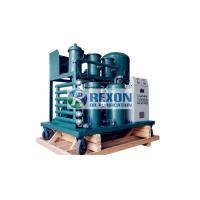 China PLC Emulsion Lube Oil Purifier , Lubricant Oil Water Purifier TYA-E-300 on sale