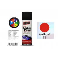 Quality Good Hardness Rubber Coat Spray Paint  Matt Red Color APK-8201-19 for sale