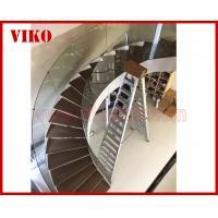 China Curved Staircase Curved Spiral Glass Railing 12mm Thickness Tempered Glass Railing Australia Building Code Interior desi on sale