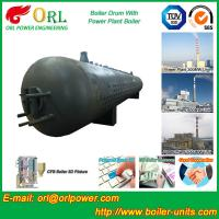 Quality 300 Ton Hot Water Carbon Steel Boiler Drum Water Proof Heat Insulation for sale