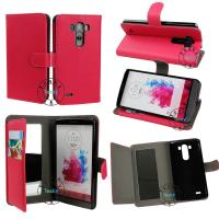 China Protective PU leather wallet case for LG G3 with mirror on sale