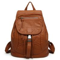 Quality Spring / Summer Fashion Ladies Backpack Washed Leather For Young Girls for sale