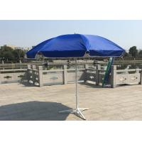 Quality Outdoor Promotional Custom Printed Patio Umbrellas With Base , Steel Wire Ribs for sale