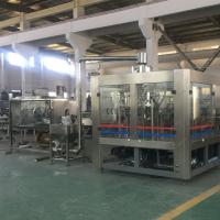 China Automatic Inspect System Mineral Water Glass Filling Machine 14 Head Washing Heads on sale